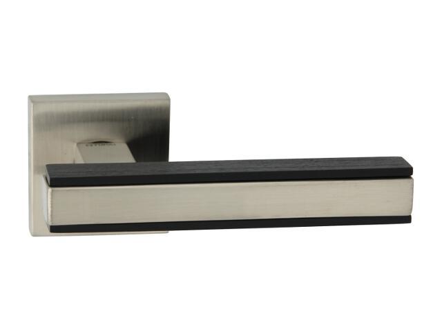 Klamka drzwiowa VICTORIA-QR szyld dzielony kwadratowy wenge/nikiel TUPAI