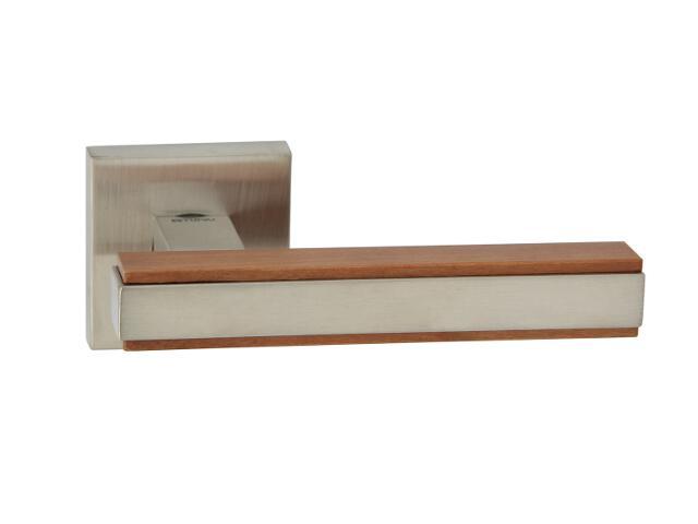 Klamka drzwiowa VICTORIA-QR szyld dzielony kwadratowy dąb/nikiel TUPAI