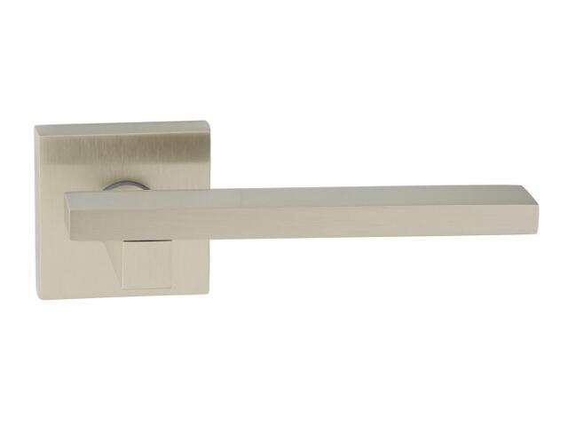 Klamka drzwiowa MARY-QR szyld dzielony kwadratowy nikiel lakierowany ROSSETTI