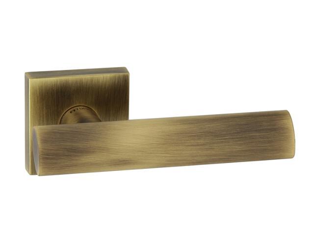 Klamka drzwiowa NERIS-QR szyld dzielony kwadratowy brąz grafiatto mat TUPAI