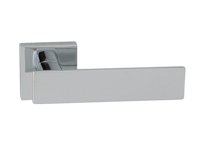 Klamka drzwiowa AGUEDA-QR szyld dzielony kwadratowy chrom lakierowany TUPAI