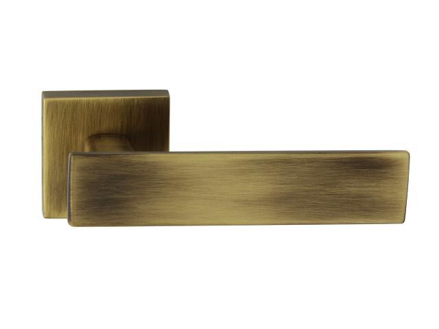 Klamka drzwiowa AGUEDA-QR szyld dzielony kwadratowy brąz grafiatto mat TUPAI