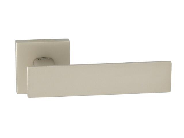 Klamka drzwiowa AGUEDA-QR szyld dzielony kwadratowy nikiel satyna velvet TUPAI