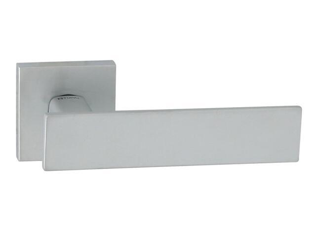Klamka drzwiowa AGUEDA-QR szyld dzielony kwadratowy chrom satyna velvet TUPAI