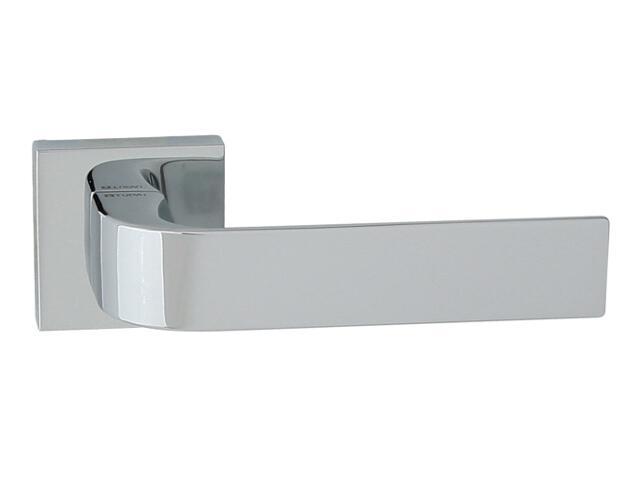 Klamka drzwiowa FARO-QR szyld dzielony kwadratowy chrom lakierowany TUPAI