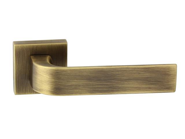 Klamka drzwiowa FARO-QR szyld dzielony kwadratowy brąz grafiatto mat TUPAI