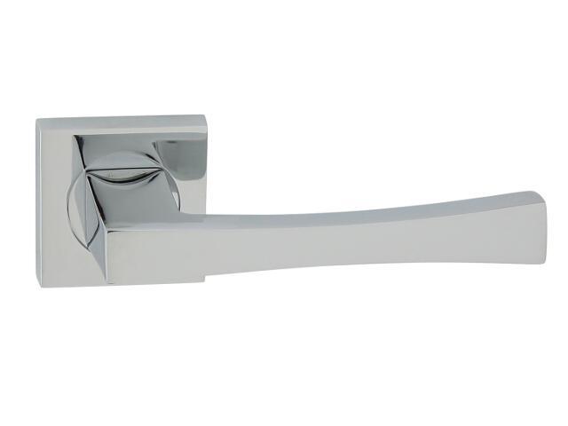 Klamka drzwiowa LOGO-QR szyld dzielony kwadratowy chrom lakierowany Domino