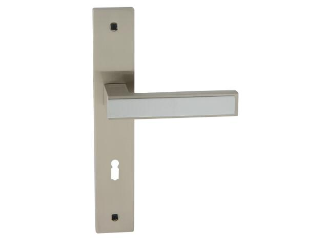 Klamka drzwiowa GUSTAW szyld długi klucz chrom/nikiel lakierowany Domino