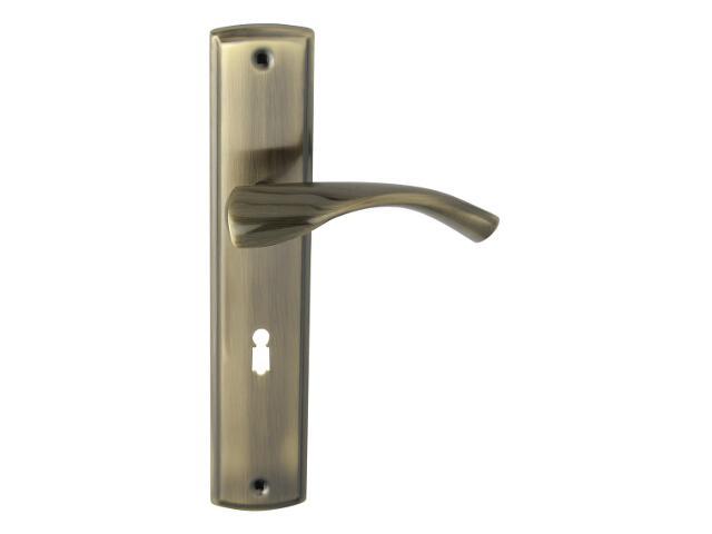 Klamka drzwiowa BILBAO szyld długi klucz brąz grafiatto Domino