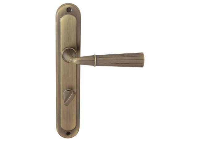 Klamka drzwiowa ANNA szyld długi WC brąz mat prawa Domino