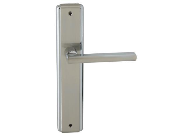 Klamka drzwiowa JANE szyld długi bez otworu chrom/nikiel lakierowany Domino