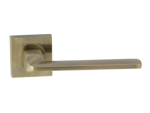 Klamka drzwiowa TIME-QR szyld dzielony kwadratowy brąz grafiatto Domino