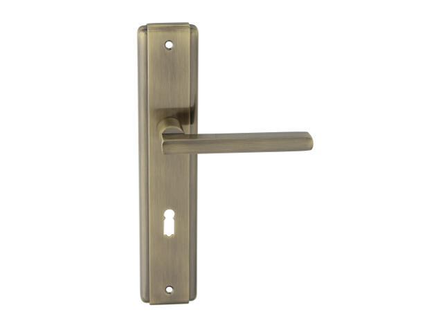 Klamka drzwiowa JANE szyld długi klucz brąz grafiatto Domino