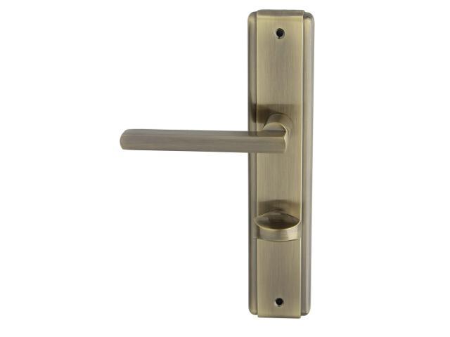 Klamka drzwiowa JANE szyld długi WC brąz grafiatto lewa Domino