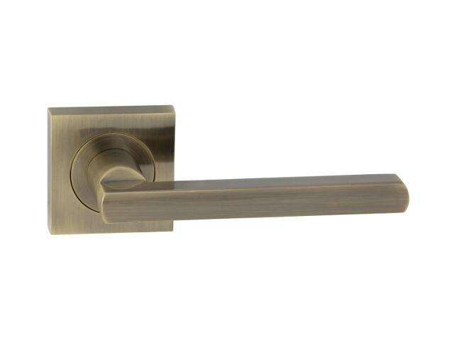 Klamka drzwiowa JANE-QR szyld dzielony kwadratowy brąz grafiatto Domino