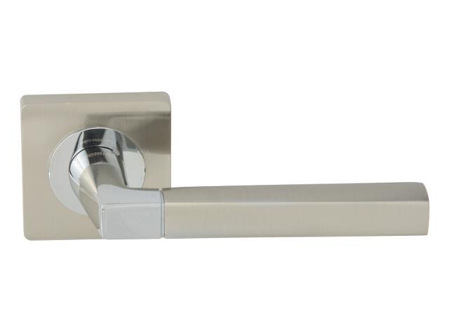 Klamka drzwiowa FENIX-QR szyld dzielony nikiel lakierowany/chrom lakierowany Domino