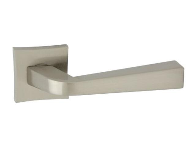 Klamka drzwiowa ANDY-QR szyld dzielony kwadratowy nikiel lakierowany ORO&ORO