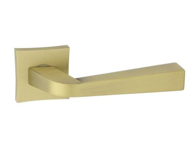 Klamka drzwiowa ANDY-QR szyld dzielony kwadratowy brąz grafiatto ORO&ORO