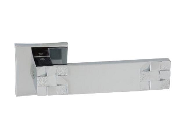 Klamka drzwiowa TORO-QR szyld dzielony kwadratowy chrom lakierowany ORO&ORO