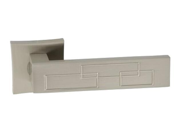 Klamka drzwiowa MAYA-QR szyld dzielony kwadratowy nikiel lakierowany ORO&ORO