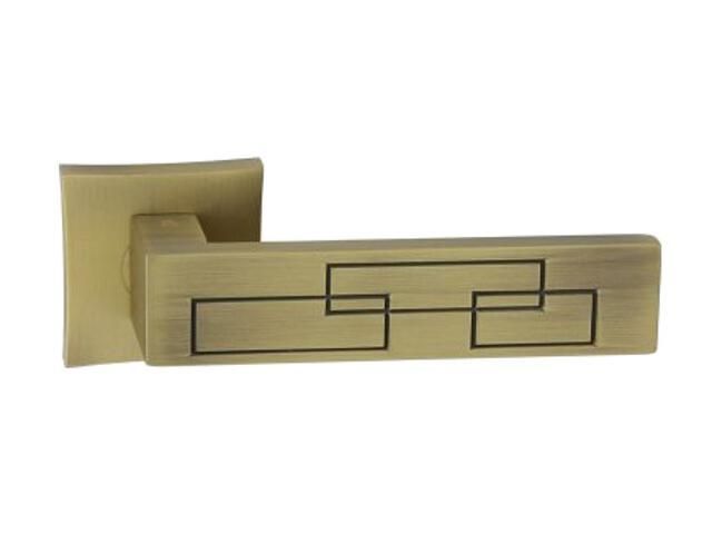 Klamka drzwiowa MAYA-QR szyld dzielony lakierowany brąz grafiatto mat ORO&ORO