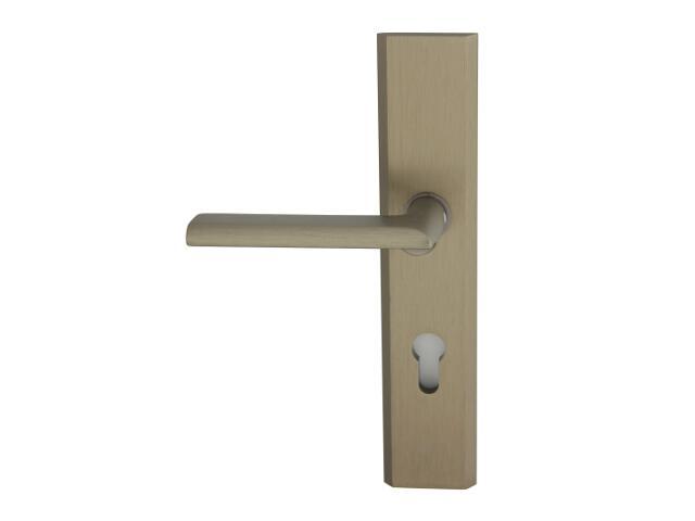 Klamka drzwiowa zewn. NOTE szyld długi wkładka 92mm tytan lewa klasa I AXA