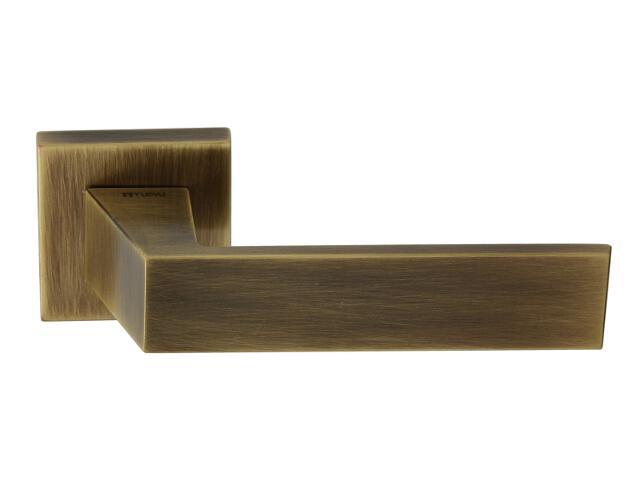 Klamka drzwiowa POMBAL-QR szyld dzielony kwadratowy brąz grafiatto mat TUPAI