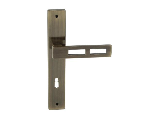 Klamka drzwiowa TOM II szyld długi klucz brąz grafiatto Domino