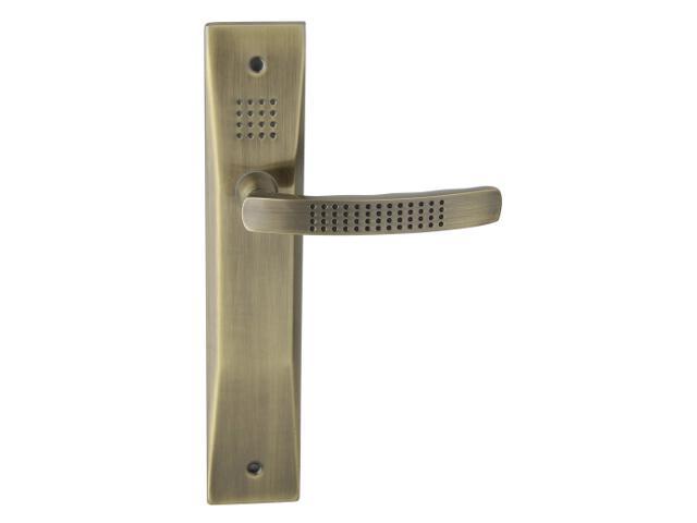 Klamka drzwiowa OSLO szyld długi bez otworu brąz grafiatto Yale
