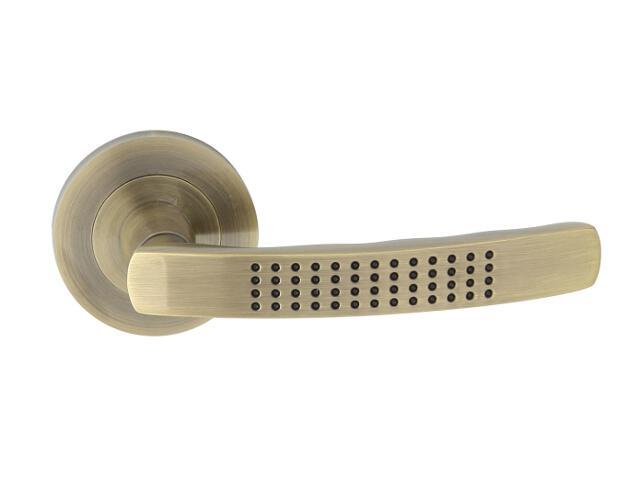 Klamka drzwiowa OSLO-R szyld dzielony brąz grafiatto Yale