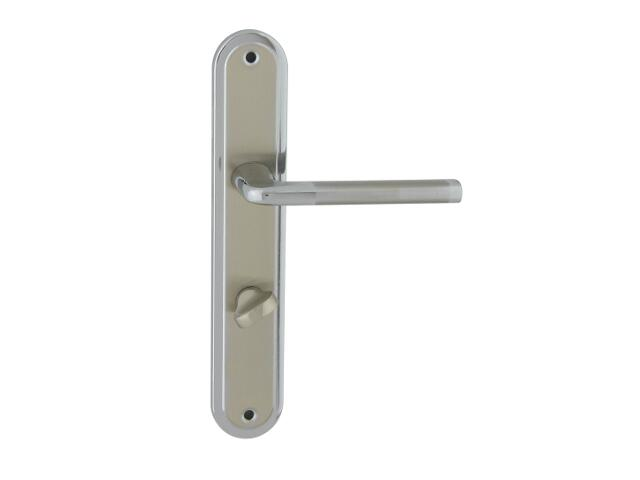 Klamka drzwiowa ELIZABETH szyld długi WC chrom/nikiel lakierowany prawa Domino