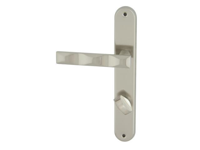 Klamka drzwiowa MODENA szyld długi WC nikiel lakierowany Domino