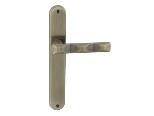 Klamka drzwiowa MODENA szyld długi bez otworu brąz grafiatto Domino