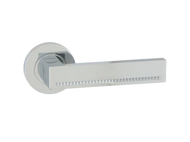 Klamka drzwiowa DELUX-R szyld dzielony okrągły chrom lakierowany ORO&ORO