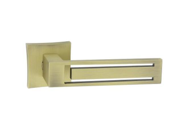 Klamka drzwiowa Magnet-QR szyld dzielony kwadratowy brąz grafiatto mat ORO&ORO