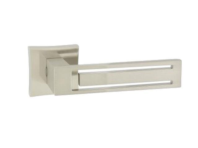 Klamka drzwiowa Magnet-QR szyld dzielony kwadratowy nikiel lakierowany ORO&ORO