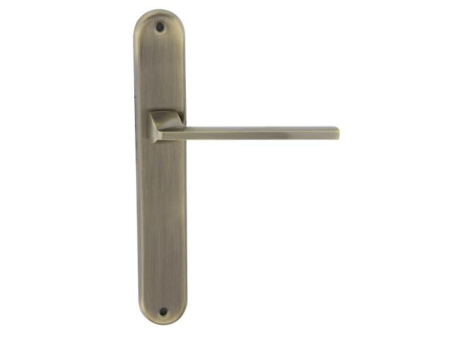 Klamka drzwiowa TIME szyld długi bez otworu brąz grafiatto (Alu) Domino