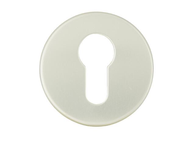 Szyld drzwiowy zewnętrzny okrągły 1086 wkładka bębenkowa szampański mat Dieckmann