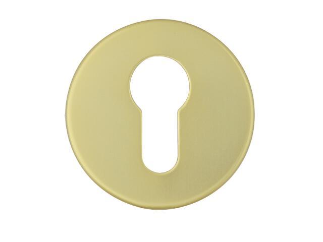 Szyld drzwiowy zewnętrzny okrągły 1086 wkładka bębenkowa złoty mat Dieckmann