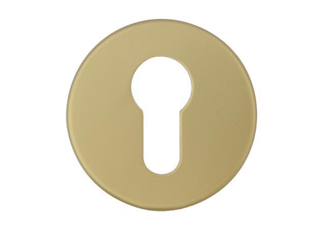 Szyld drzwiowy zewnętrzny okrągły 1086 wkładka bębenkowa brąz mat Dieckmann