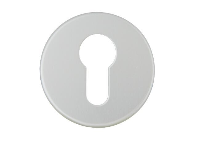 Szyld drzwiowy zewnętrzny okrągły 1086 wkładka bębenkowa srebrny mat Dieckmann