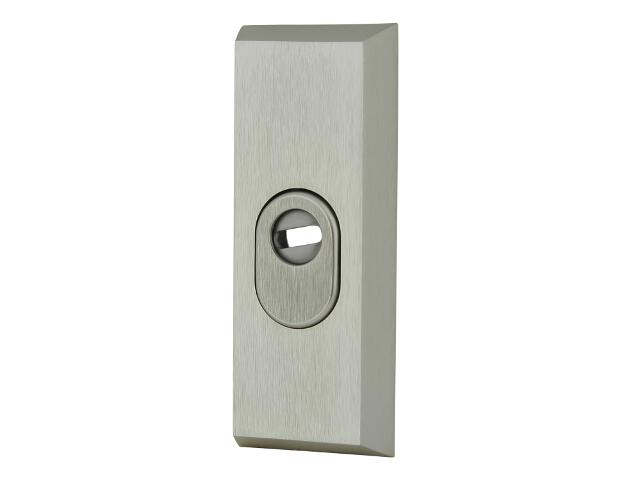 Szyld drzwiowy zewn. prostokątny z zabezpiecz. 7031 wkładka bębenkowa szampański mat Dieckmann