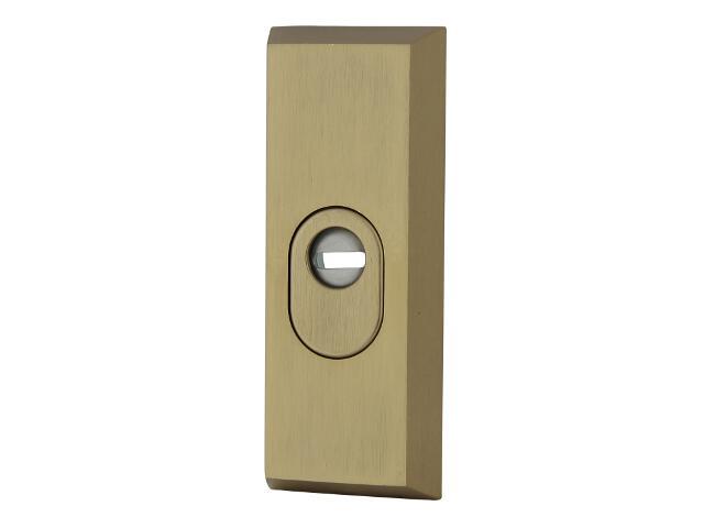 Szyld drzwiowy zewn. prostokątny z zabezpieczeniem 7031 wkładka bębenkowa brąz mat Dieckmann