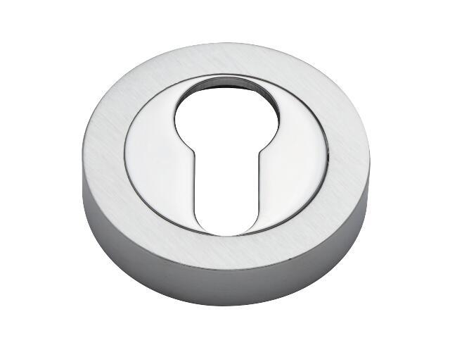 Szyld drzwiowy okrągły wkładka chrom/chrom matowy VES-OK-Y-CR-CS Verdi