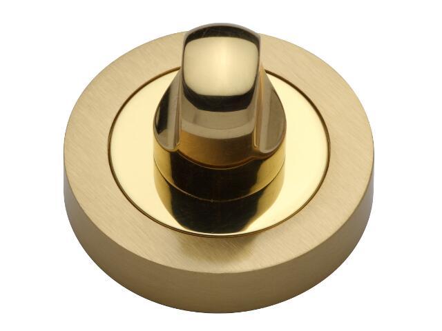 Szyld drzwiowy okrągły WC złoty/złoty matowy VES-OK-WC-OL-SA Verdi