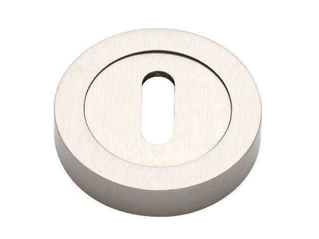 Szyld drzwiowy okrągły klucz nikiel matowy VES-OK-N-NM Verdi