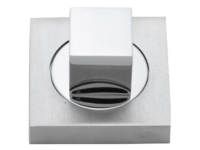 Szyld drzwiowy kwadratowy WC chrom / chrom matowy VES-KW-WC-CR-CS Verdi
