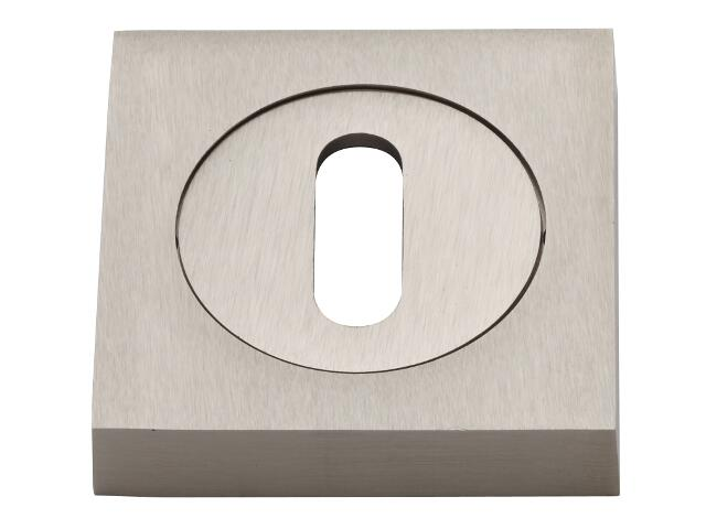 Szyld drzwiowy kwadratowy klucz nikiel matowy VES-KW-N-NM Verdi