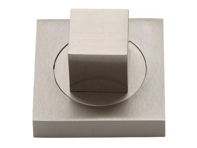 Szyld drzwiowy kwadratowy WC nikiel matowy VES-KW-WC-NM Verdi