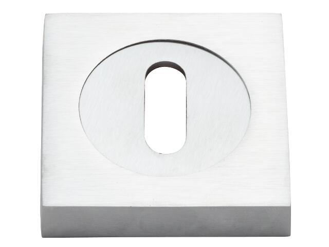 Szyld drzwiowy kwadratowy klucz chrom matowy VES-KW-N-CS Verdi